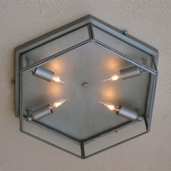 Lighting Innovations C2803-P Outdoor 15  Wide x 3.8  Tall Ceiling Light Fixture