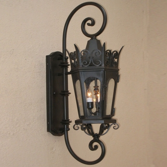Lighting Innovations DB7003 Traditional Exterior 14.5 Wide x 42 Tall Light Sconce