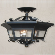 Lighting Innovations HC6263 Outdoor 18.5  Wide x 15.5  Tall Flush Ceiling Light Fixture