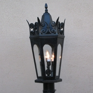 Lighting Innovations P7093 Traditional Outdoor 14 Wide x 27.6 Tall Pole Lighting Fixture