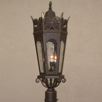 Lighting Innovations PF7082 Traditional Outdoor 11.5 Wide x 28 Tall Post Light Fixture