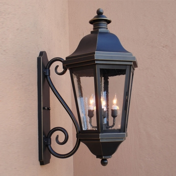 Lighting Innovations S1483 Traditional Outdoor 14 Wide x 26.3 Tall Wall Mounted Lamp