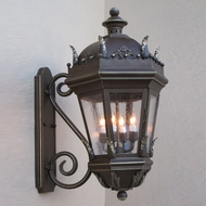Lighting Innovations S5821 Traditional Outdoor 9  Wide x 17.1  Tall Wall Sconce Light