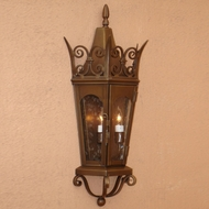 Lighting Innovations WB7071 Traditional Outdoor 9 Wide x 20.8 Tall Lamp Sconce