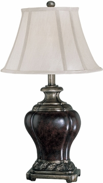 Lite Source C41024 Dyson Traditional Aged Bronze & Silver Finish 24 Tall Table Light