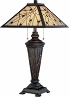 Lite Source C41117 Remus Tiffany Antique Bronze Finish 29.5  Tall Table Light