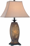 Lite Source C41160 Jaquan Walnut Wood Finish 17  Wide Table Lighting