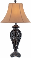 Lite Source C41189 Melrose Dark Bronze Finish 17  Wide Table Lamp