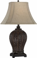 Lite Source C41226 Randal Traditional Antique Bronze Finish 17  Wide Table Lamp Lighting