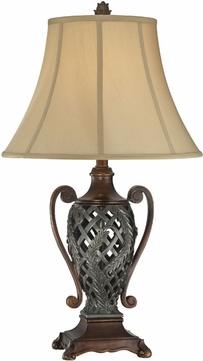 Lite Source C41255 Kylemore Dark & Antique Bronze Finish 29  Tall Table Top Lamp