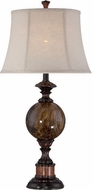 Lite Source C41294 Creighton Traditional Antique Bronze and Faux Marble Table Lamp
