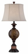 Lite Source C41294 Creighton 32 Inch Tall Marble Traditional Table Lamp