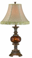 Lite Source C41332 Glenshire II Antique Bronze Fluorescent Table Lamp Lighting