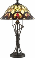 Lite Source C41385 Odetta Tiffany Dark Bronze Fluorescent Table Lighting