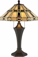 Lite Source C41394 Mircea Tiffany Dark Bronze Fluorescent Table Top Lamp
