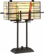 Lite Source C41396 Mansur Tiffany Dark Bronze Fluorescent Table Lamp