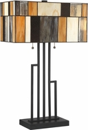 Lite Source C41405 Concertina Tiffany Matte Black Table Top Lamp