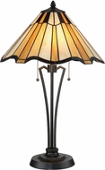 Lite Source C41406 Florence Tiffany Dark Bronze Side Table Lamp