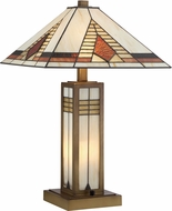 Lite Source C41408 Stewart Tiffany Antique Brass Table Lamp