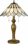 Lite Source C41410 Lavena Tiffany Antique Brass Table Light