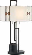 Lite Source C41412 Wilshire Tiffany Dark Bronze Table Lighting