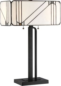 Lite Source C41416 Tulani Tiffany Antique Black Table Lamp Lighting