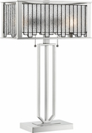 Lite Source C41420 Celine Tiffany Aged Silver Table Lamp