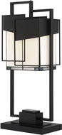 Lite Source C41426 Tellason Contemporary Matte Black Table Light