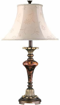 Lite Source C4333 Savoir Faire Traditional Antique Bronze & Gold Finish 29.5  Tall Lighting Table Lamp