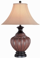 Lite Source C4973 Domenica Traditional Walnut Table Light
