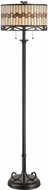 Lite Source C61154 Omora Tiffany Dark Bronze Finish 15  Wide Floor Lamp Lighting
