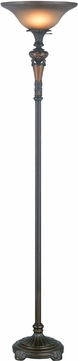 Lite Source C6309 Muir Traditional Oil-Rubbed Bronze Finish 71 Tall Torchiere Lamp