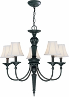Lite Source C71038 Grace Traditional Dark Bronze Finish 28  Wide Chandelier Light