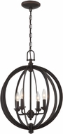 Lite Source C71357 Oria Modern Dark Bronze Lighting Chandelier