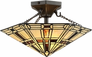 Lite Source C71393 Mircea Tiffany Dark Bronze Ceiling Lighting