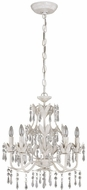 Lite Source C7241 Evelyn Classic White Finish 19 Tall Hanging Chandelier