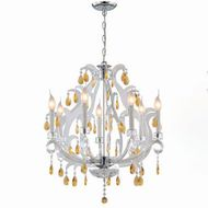 Lite Source C7887 Clarinda Traditional Chrome Plated Metal Mini Chandelier Light
