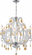 Lite Source C7887 Clarinda Chrome Finish 22.5  Wide Lighting Chandelier