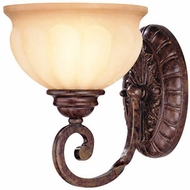Lite Source C7935-W Maxine Traditional Weathered Bronze Finish 7 Wide Lighting Sconce