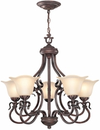 Lite Source C7956 Laurent Traditional Antique Bronze Finish 26  Wide Chandelier Light