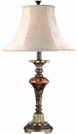 Lite Source CF4333 Savoir Faire Traditional Antique Bronze & Gold Finish 16.5 Wide Table Lamp Lighting