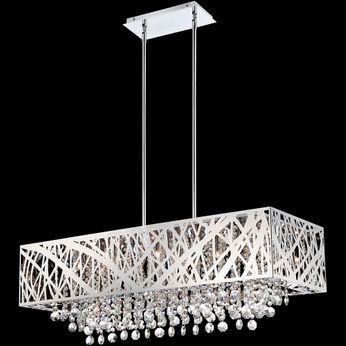 Lite Source EL-10104 Benedetta 36 Inch Wide 10 Lamp Kitchen Island Light Fixture