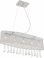 Lite Source EL-10138 Chrome Halogen Island Lighting