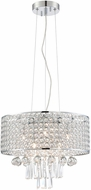 Lite Source EL-10140 Chrome Halogen Drum Pendant Lighting