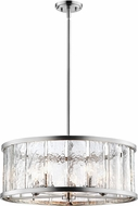 Lite Source EL-10174 Glennis Contemporary Brushed Nickel Drum Pendant Lighting
