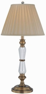 Lite Source ELF-30036 Cavallo Traditional Antique Brass Fluorescent Lighting Table Lamp
