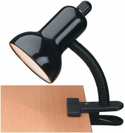 Lite Source LS-111BLK Clip-On Modern Black Desktop Lamp