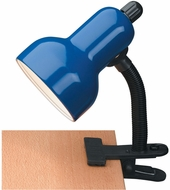 Lite Source LS-111BLU Clip-On Contemporary Blue Study Lamp
