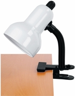 Lite Source LS-111WHT Clip-On Modern White Reading Lamp