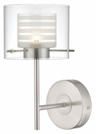 Lite Source LS-16247 Vito 11 Inch Tall Contemporary Wall Sconce Lighting Fixture - Polished Steel